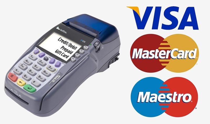 Оплата оборудования в офисах банковской картой через терминал Сбербанка